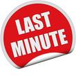 Sticker rot rund cu LAST MINUTE