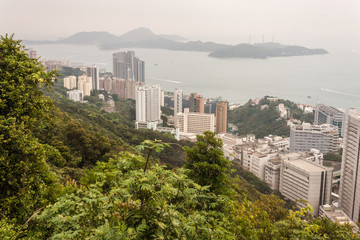 Hong Kong coastline with Lamma Island
