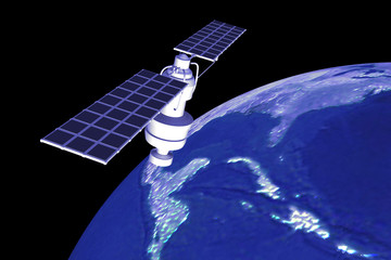 satellite  at the Earth orbit