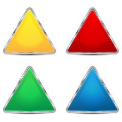 set of sign-boards of different colors