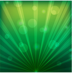 rays and circumferences on a green background