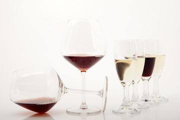 Degustazione del vino rosso