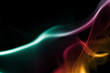 abstract colored smoke curves