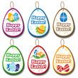 Easter label set with symbols
