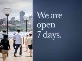 we are open seven days