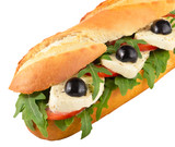 Sandwich-mozzarella-rocket-sub