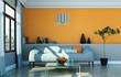 Sofa in moderner Stadtwohnung