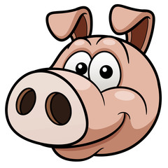 Vector illustration of Pig face