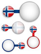 Vector - Norway Country Set of Banners