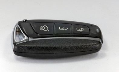 black car key with remote central locking