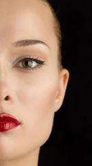 Portrait of a beautiful female model