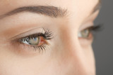 woman's eyes close-up
