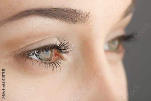 woman's eyes close-up