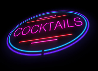 Neon cocktails sign.