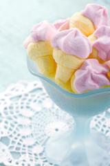 Pink ice cream shaped marshmallows