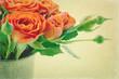 Vintage orange roses
