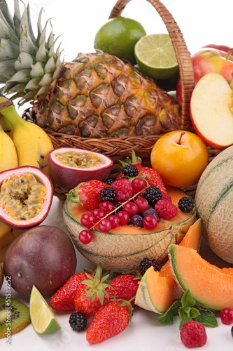 close up on collection of fruits