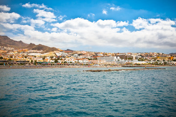 Panoramic view on Costa Adeje resort. Tenerife.