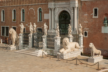 The Porta Magna at the Venetian Arsenal, Venice, Italy