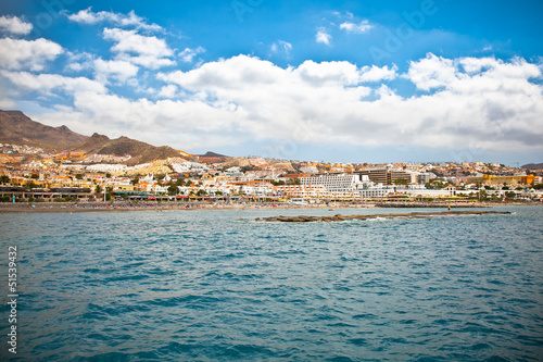 Panoramic view on Costa Adeje resort. Tenerife.