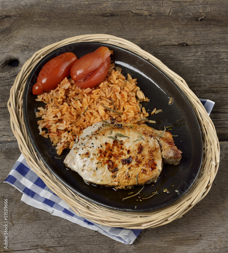 Rice With Pork Meat