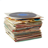 Pile of vinyl records
