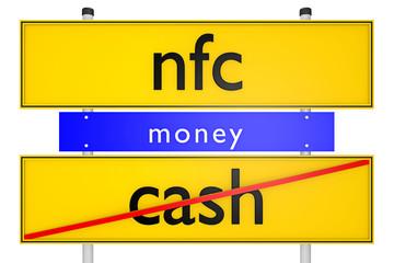 nfc vs cash_konzeptionell Finanzen - 3D