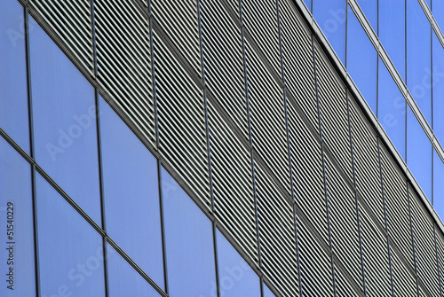 linear patterns of a building front