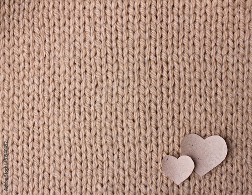 handmade knit texture with hearts