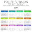 2014 Polish vectorial calendar