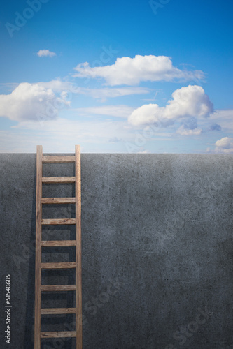 Ladder leading to freedom, concept