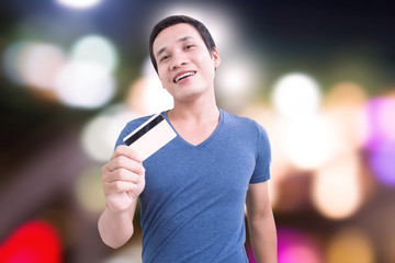 Man Showing Credit Card