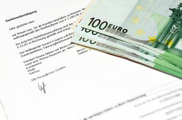 Kredit bewilligt - Darlehensbestätigung
