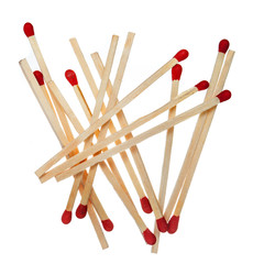 Wooden matches heap