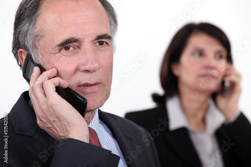 Executives on the phone