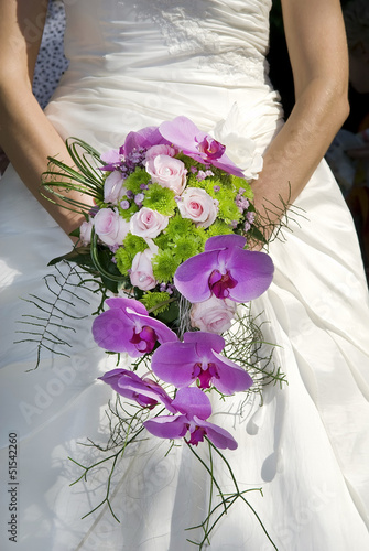 Bride holding beautiful bouquet