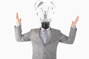 Businessman and light bulb