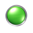 Glossy green CAD button with chrome bezel