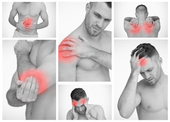 Pictures representing man with pain