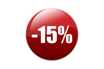 Bouton -15%