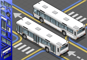 Isometric Bus in Rear View