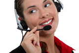 portrait of a call center employee
