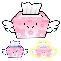 Different styles of facial tissues Sets. Household Items Vector