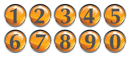 Numeri classifica telefono pulsanti icona