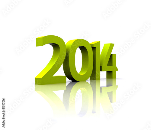 3D illustration - The new year ... 2014