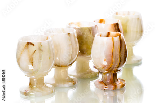 Six wineglass onyx