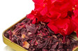 Dry hibiscus tea and  flower