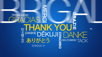 Thank you in different languages word cloud