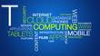 Cloud Computing word cloud text animation