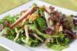 Pear salad and walnut